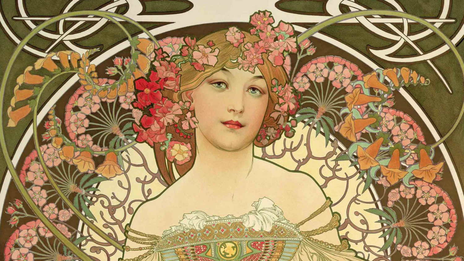 Estremamente The Daily Muse: Alfons Maria Mucha (1860 to 1939), Art Nouveau  HX62